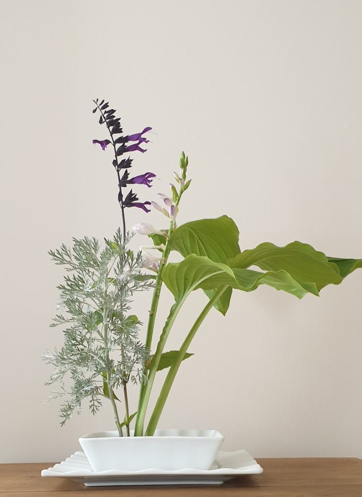 bouquet paysage armoise sauge hosta